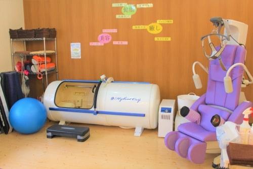 うるまの整骨院は酸素カプセルもあります